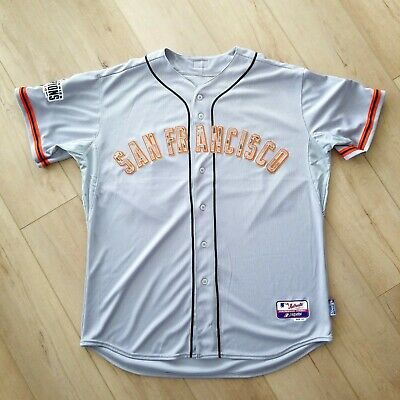 f1eff873f 100% AUTHENTIC BUSTER Posey Majestic Giants Jersey Size 52 2XL Mens ...