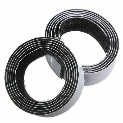 1m x20mm Self Adhesive Sticky Hook And Loop Roll Strap Fastener, Black, 20m L4T4