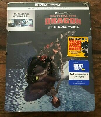 How to Train Your Dragon The Hidden World (4K UHD + Blu-Ray) Best Buy Steelbook