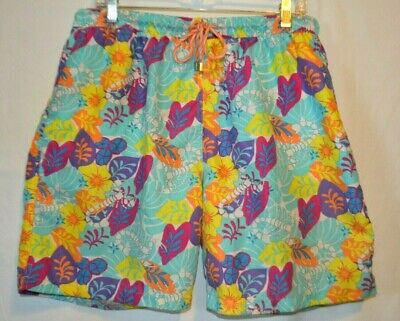 75b32d4a2f Peter Millar Mens Sz X-Large Lined Swim Trunks Bright Floral and Lobster.