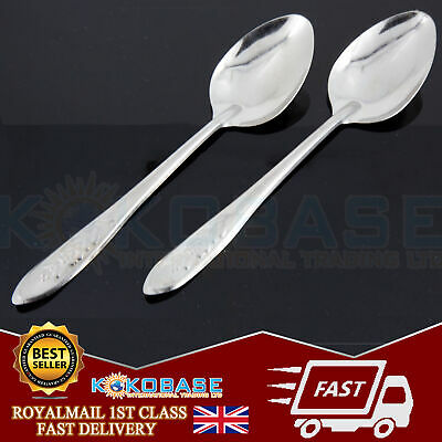 Lunch Set of 10 Stainless Steel Dozen Spoons Cutlery food dinner Spoons gift