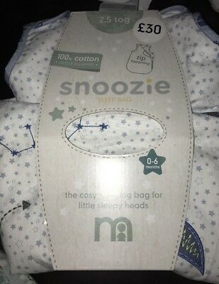 Mothercare Space Dreamer 0-6 Months 2.5 Tog Snoozie Sleeping Bag 🚀