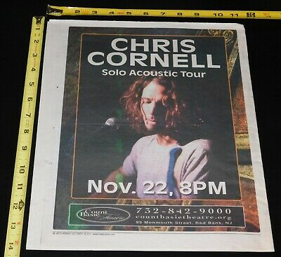 B-257 Chris Cornell Soundgarden Rock Band Music Covertle 36 27x40 Fabric Poster