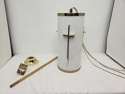 Vintage Church Hanging Ceiling Light Fixture Chapel Pendent Chandelier Cross