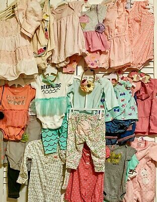 *QUALITY* EX LARGE LOT Baby Girls 0-3 3-6 Months Carter's Summer Fall Clothes