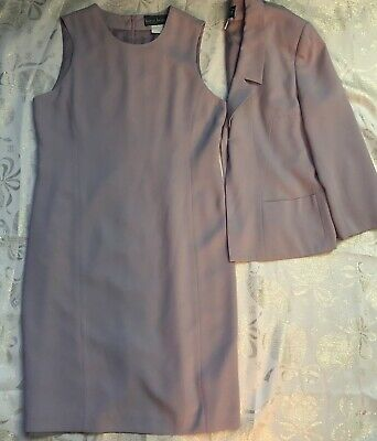 Harve Benard Saks Fifth Ave Womens Size 8P Lavender Dress Suit Jacket Blazer
