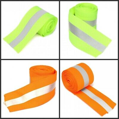 1/3/5M Florescent Reflective Safety Tape Warning Ribbon Sewing On Clothes
