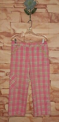 Vintage Lilly Pulitzer Plaid Print Crop Pants Pink Multi Size 6 Super Cute