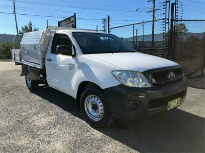 2010 Toyota Hilux TGN16R Workmate White Automatic A Cab Chassis