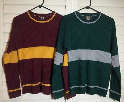 HARRY POTTER  GRYFFINDOR + SLYTHERIN  QUIDDITCH GAMING SWEATER  Women Medium