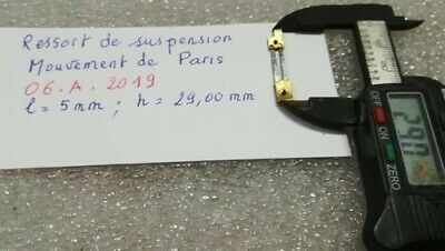 Ressort de Suspension pour Mouvement de Paris (06.A.2019)  french clock uhr