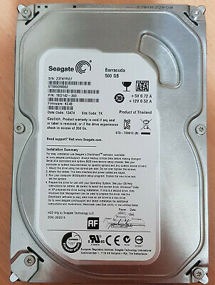 "Seagate Barracuda 500 GB,Internal,7200 RPM,3.5"" (ST500DM002) Hard Drive SATA"