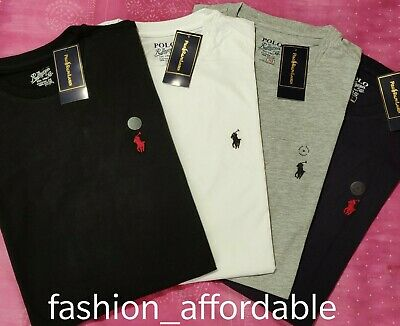 Mens Ralph Lauren Polo Crew Neck Short Sleeve Custom Fit Tshirt with tag