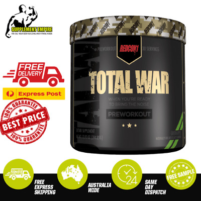 REDCON1 TOTAL WAR Pre workout RAINBOW CANDY Flavour High Stim 30 serves