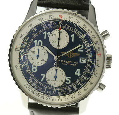BREITLING Old Navitimer A13322 Automatic Leather Belt Men's Watch_484188