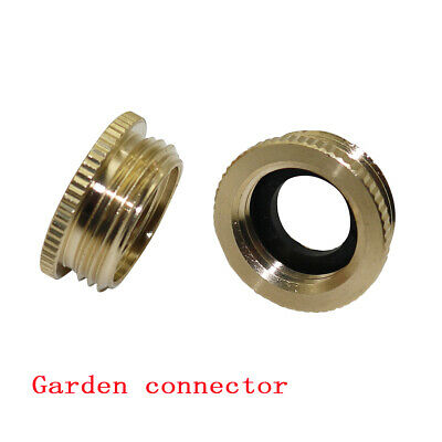 """4Pcs Garden Water Hose Tap Connector Brass 1/2""""Female to 3/4""""Male Thread Adapter"""