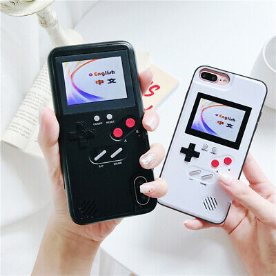 Full Color Screen Game Play Gameboy Tetris Phone Case for iPhone 7 8Plus XS MAX
