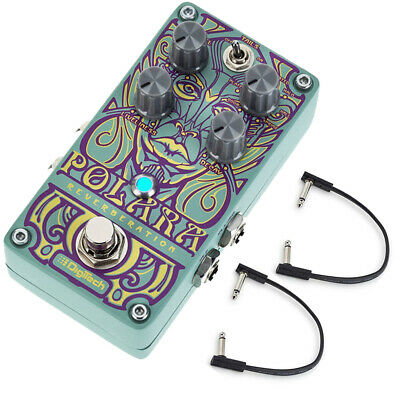 Digitech Polara Stereo Reverb Guitar Effect Pedal w/ (2) Flat Patch Cables