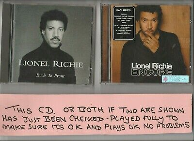 Lionel Richie Encore CD (2002) and Back To Front TWO CD Albums