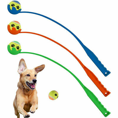 Dog Tennis Ball Chucker Launcher Thrower Pet Puppy Training Exercise Outdoor Toy