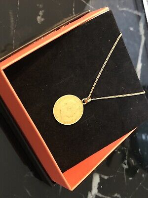 "George III 1820 22 Carat Gold Half Sovereign Pendant On 20"" 9 Carat Gold Chain"