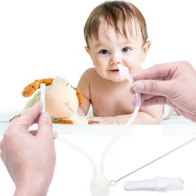 Baby Infant Silicone Nasal Aspirator Vacuum Sucker Nose Mucus Snot Cleaner AU