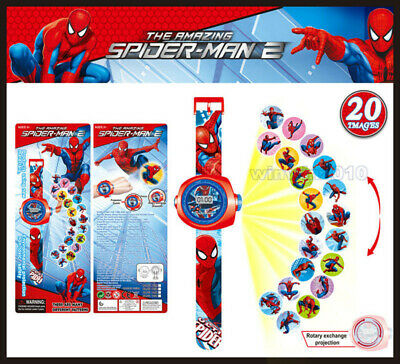 Spider-Man Figures Projection Wrist Watch Fun Kids Children Baby Educational Toy