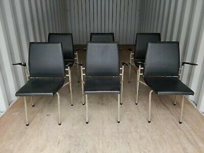 Stacking Folding Vinyl Cinema Event Chairs - Cafe Bar Restaurant - 7 Available