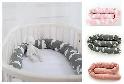 2M Cotton Baby Infant Crib Bumper Bed Bedding Cot Pillow Cushion Pad Protector