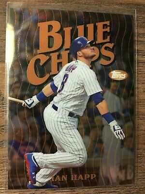 2019 Topps Finest Ian Happ Blue Chips Insert Chicago Cubs