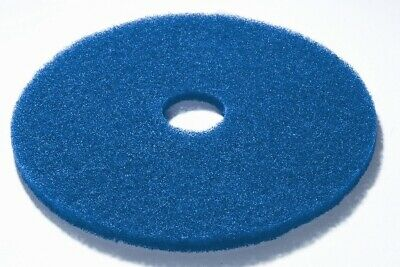 "17"" blue floor scrubbing pads box of 5"