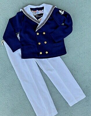 Vintage BNWT Boy's Sailor Suit Age 6 -7  Approx by Monsieur Philippe / b25