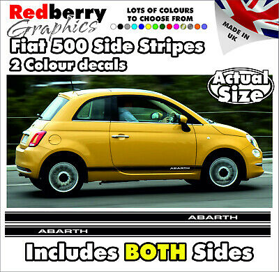 6x Fiat 500 stickers decals fiat nuova abarth 3 sizes colours available