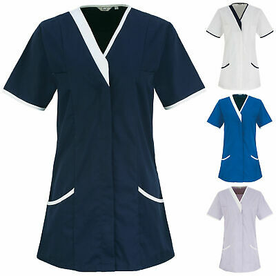 Womens Daisy Healthcare Tunic Nurse Dentist Carer Hospital Uniform Workwear