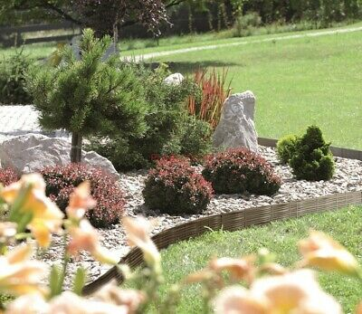 """Garden Border Edging 3.9m Pathway Lawn Plant Flower Bed """"cane look"""" Palisade"""