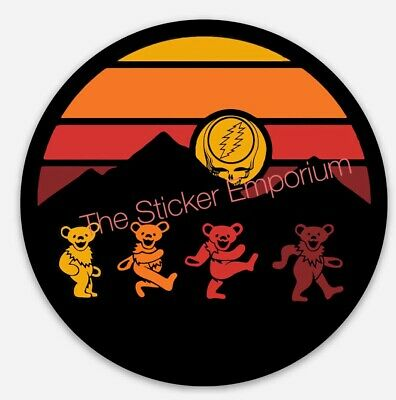 Grateful Dead & Company Dancing Bears Mountain Stealie Sticker