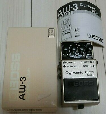 BOSS AW-3 Dynamic Wah Guitar Bass Effects Pedal Auto Wah with Box & Manual