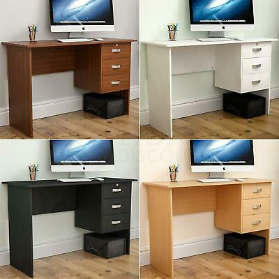 Charles Computer Desk 3 Drawer Table PC Laptop Office Home Study Workstation