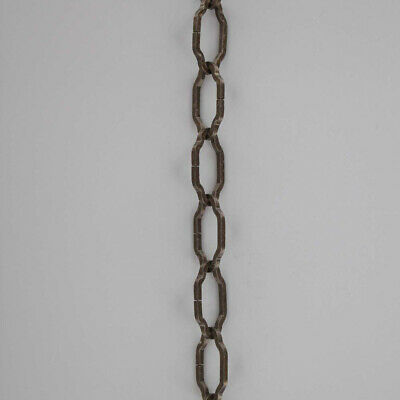 "ANTIQUE BRASS ~ WROUGHT IRON STYLE ~ Hanging Lamp ~ Chandelier Chain ~  36"" long"