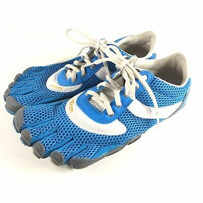wholesale dealer 4a037 b7795 Vibram Five Fingers Speed Shoes Women 41 Blue White Lace Running Barefoot