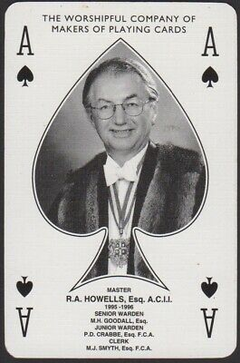 Playing Cards 1 Single Card Vintage * 1995 WORSHIPFUL Co. Master ACE of SPADES *