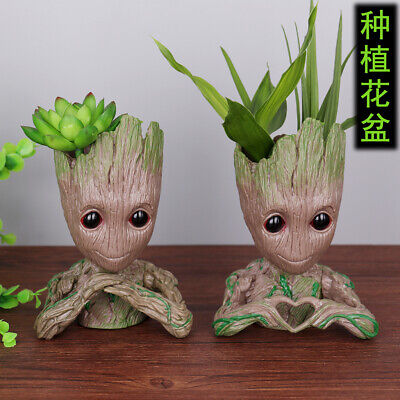 16CM Groot Guardians of The Galaxy Baby Figure Flowerpot Style Pen Pot Kids Toy
