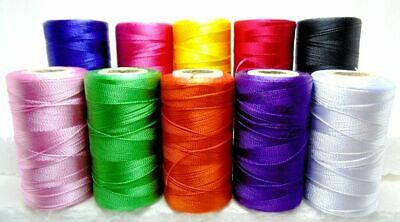 100% Pure Silk Thread Spools(pack of 5) Embroidery Sewing Machine Crochet