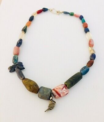 Ancient Egyptian Very Rare Necklace W/Stones  and Pendants - Proceeds Dog Rescue