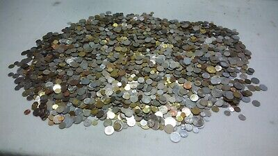 1 Kg Lot Mixed World Coins 150-180 coins Most Circulated FREE SHIPPING
