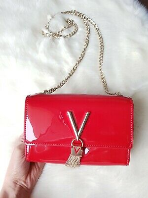 9aa9c1f0c4 VALENTINO Divina SA Lady Crossover Bag Umhängetasche Tasche Rosso Rot neuw.  ❤