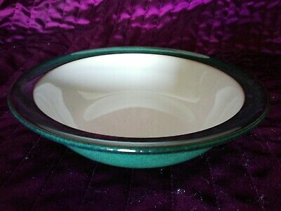 Denby Greenwich Green Cereal Bowl Rimmed 7.25 Inches