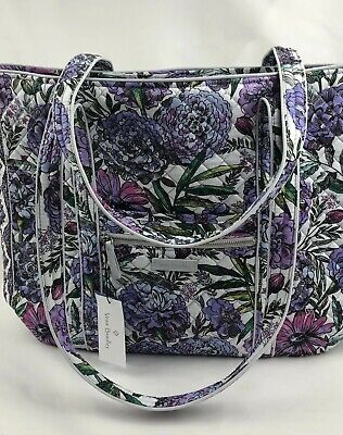 bb7904126 Vera Bradley LAVENDER MEADOW ICONIC VERA Tote NWT EXACT 2019 Spring Pattern