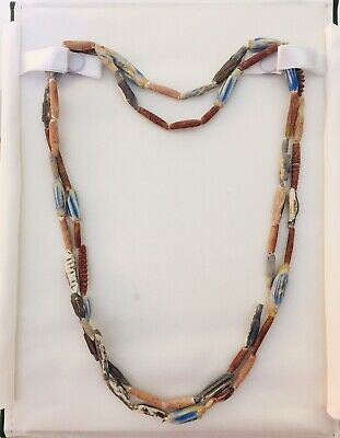 "Ancient Egyptian Rare Tubular Faiance Bead Neclace, 44"" - Proceeds Dog Rescue"