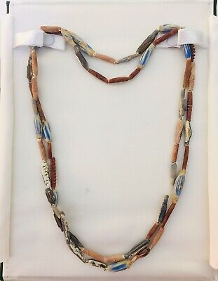 """Ancient Egyptian Very Rare Tubular Faiance Necklace , 44"""" - Proceeds Dog Rescue"""